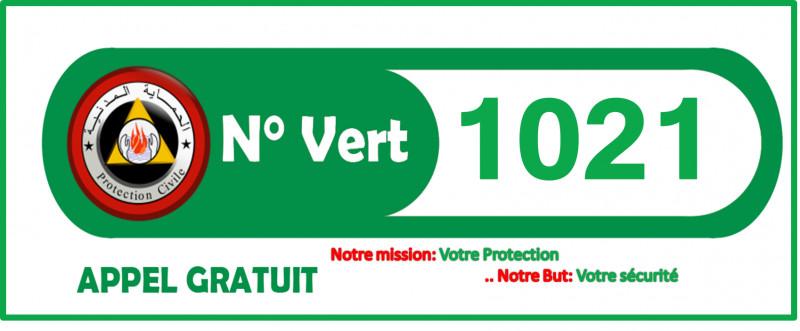 Numéro vert de la Protection Civile